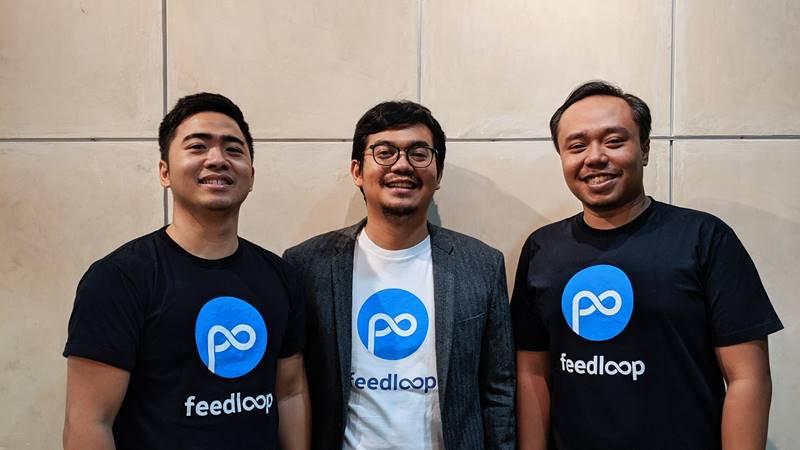 Co-founder Feedloop Ronaldi Kurniawan, Ahmad Rizqi Meydiarso, dan Muhammad Ajie Santika. - dok. Feedloop