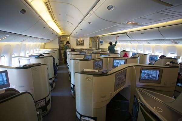 Ilustrasi - Kabin pesawat Eva Air - Bisnis/Americans.org