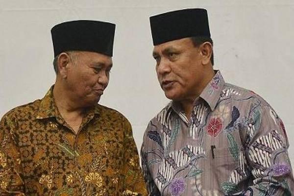 Ketua KPK Agus Rahardjo (kiri) dan Deputi Penindakan KPK Irjen Pol Firli (Kanan) - Istiemewa