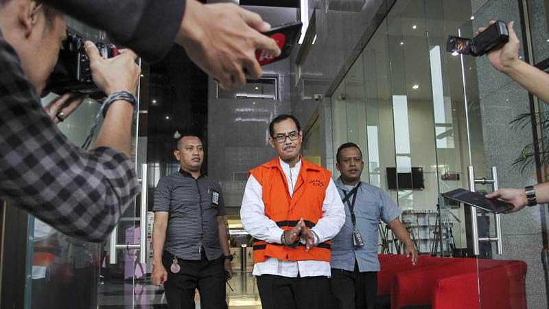 Kepala Kantor Wilayah Kementerian Agama Jawa Timur nonaktif Haris Hasanudin. - ANTARA/Dhemas Reviyanto
