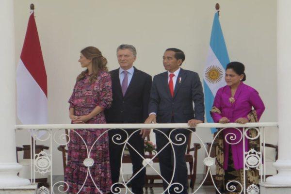 Presiden Joko Widodo bertemu dengan Presiden Argentina Mauricio Macri di Istana Bogor, Rabu (26/6/2019). - Bisnis/Amanda K. Wardhani