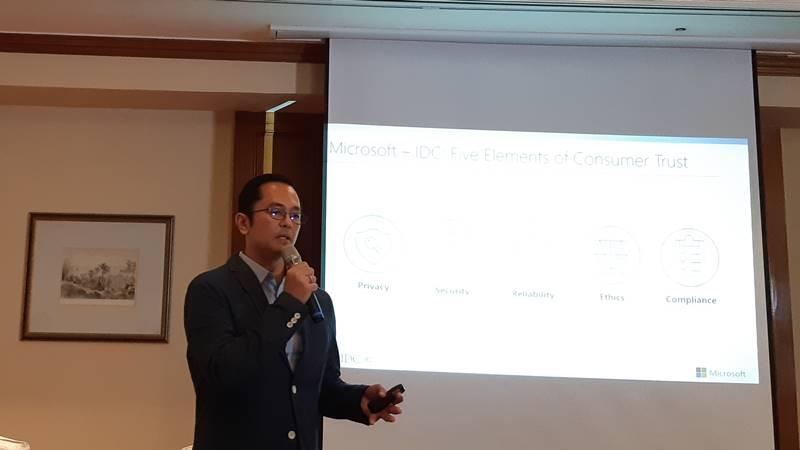 Presiden Direktur Microsoft Indonesia Haris Izmee. - dok. Rahmad Fauzan