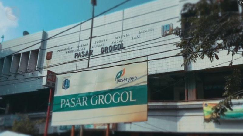 Pasar Grogol di Jakarta Barat. - Antara