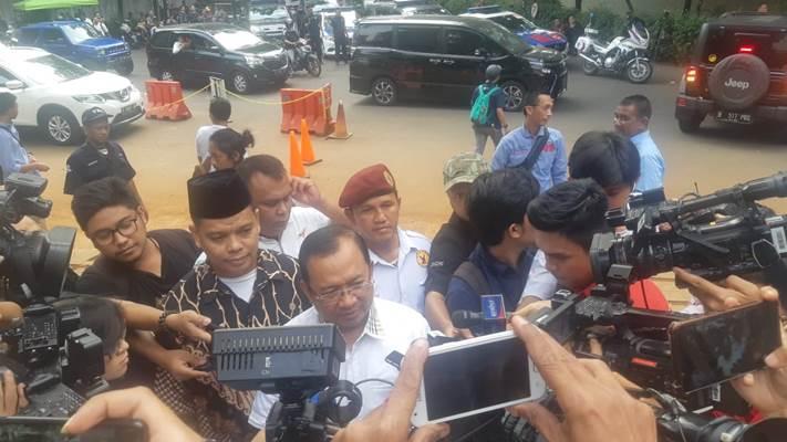 Wakil Ketua Badan Pemenangan Nasional (BPN) Prabowo-Sandi, Priyo Budi Santoso memberi keterangan kepada wartawan, Kamis (27/6/2019). - Bisnis/Jaffry Prabu Prakoso