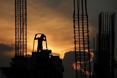 Ilustrasi - Kegiatan konstruksi di DKI Jakarta. - Bisinis/Bisnis Indonesia