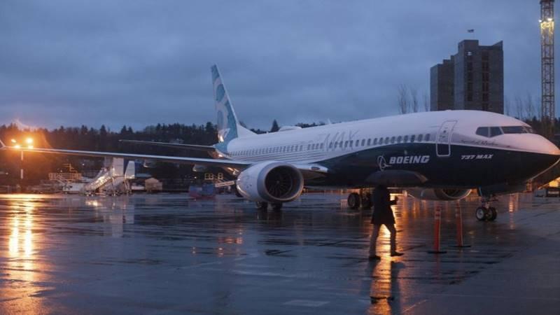 Pesawat Boeing 737 MAX di luar hanggar pabrik Boeing di Renton, Washington, Amerika Serikat. -  Reuters