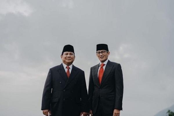 Prabowo Subianto dan Sandiaga Uno - Instagram@prabowo