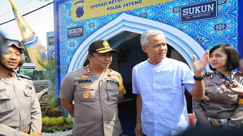 Gubernur Jawa Tengah Ganjar Pranowo saat meninjau posko lebaran di Kabupaten Purworejo. - Istimewa