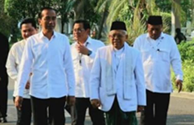 Jokowi-Ma'ruf Amin saat berangkat dari Istana menuju Gedung KPU - Bisnis/Istimewa