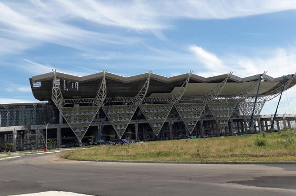 Progres penuntasan dan penyempurnaan terminal utama yang sudah mencapai 92%, akhir Maret 2018 - Bisnis