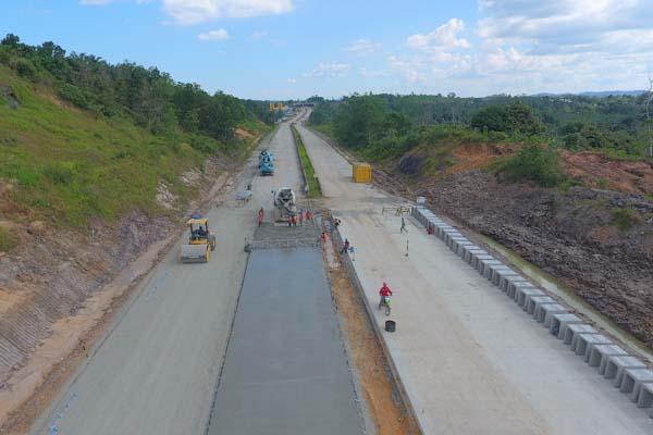 Pembangunan jalan tol Balikpapan-Samarinda. - Istimewa-Jasa Marga