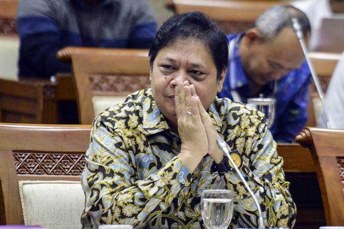 Menteri Perindustrian Airlangga Hartarto - ANTARA/Nova Wahyudi