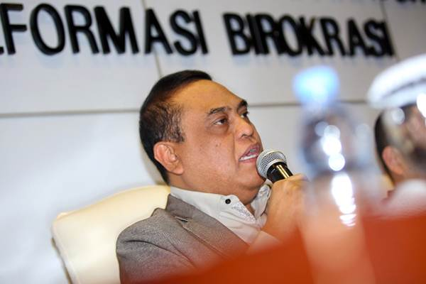 Menteri Pendayagunaan Aparatur Negara dan Reformasi Birokrasi (PAN-RB) Syafruddin. - JIBI/Abdullah Azzam