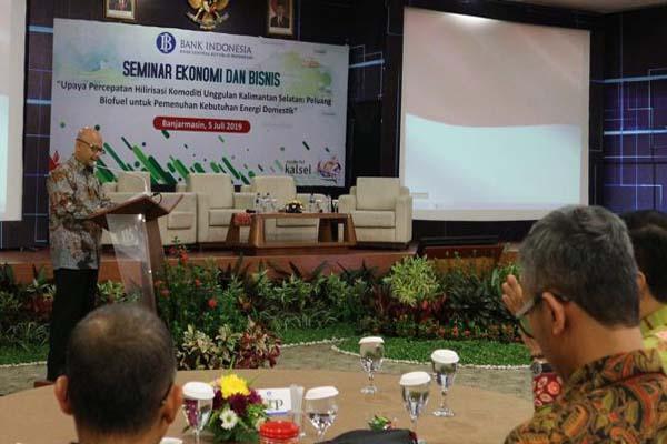 Kepala Kantor Perwakilan BI Provinsi Kalsel Herawanto saat menyampaikan sambutan - Arief Rahman