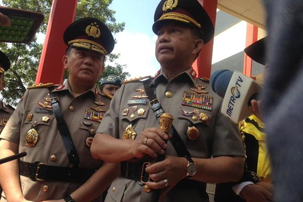 Kapolri Jenderal Polisi Tito Karnavian (kanan) didampingi Kadiv Humas Polri Irjen Pol Muhammad Iqbal saat memberikan keterangan kepada wartawan di Semarang, Jumat (5/7/2019). - Alif Nazzala Rizqi