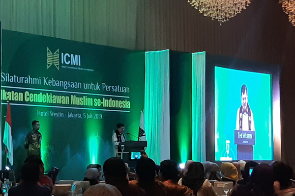 Wakil Presiden Jusuf Kalla menggelar Silahturahmi Ikatan Cendekiawan Muslim se-Indonesia (ICMI) di Jakarta, Jumat malam 5 Juli 2019. - Bisnis/Anggara Fernando