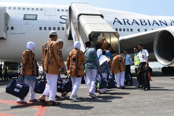 Ilustrasi-jemaah calon haji - Antara/M Risyal Hidayat