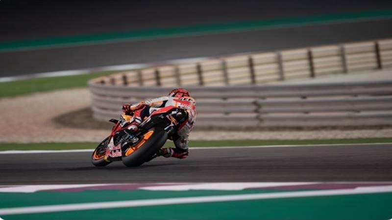 Marc Mrquez Alenta saat uji coba di arena balap Qatar - Twitter @marcmarquez93