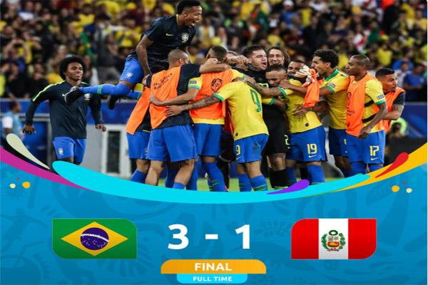 Brasil vs Peru 3 - 1