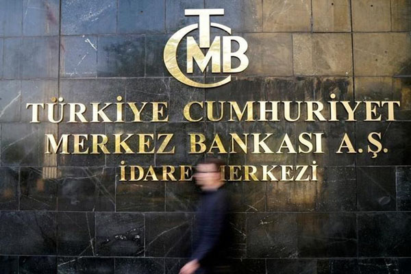 Kantor bank sentral Turki di ibu kota Ankara. - Reuters/Umit Bektas