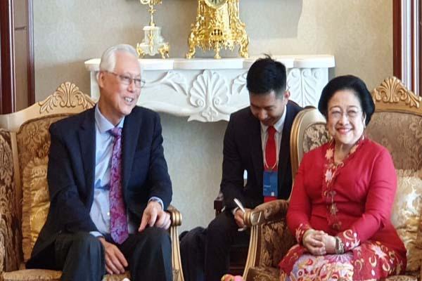 Menteri Senior Emeritus Singapura Goh Chok Tong dengan Presiden RI Kelima Megawati Soekarnoputri - Istimewa