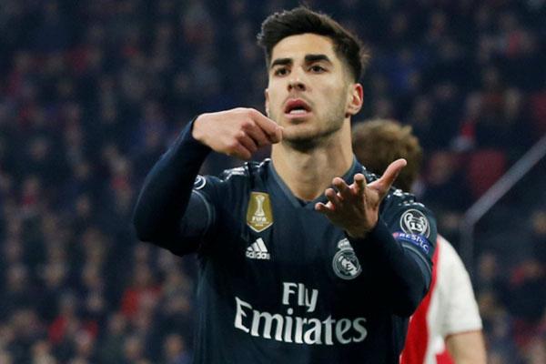 Gelandang serang Real Madrid Marco Asensio - Reuters/Eva Plevier