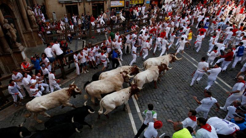Festival San Fermin di Pamplona, Spanyol. - Reuters/Susana Vera