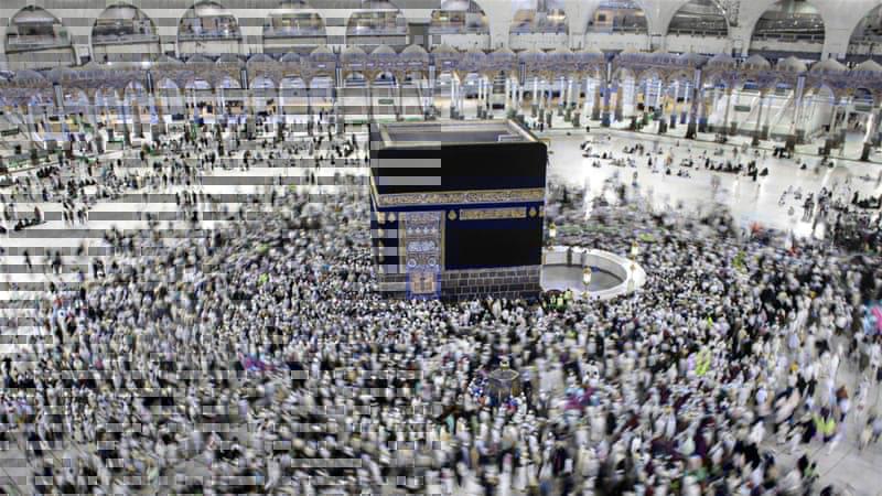 Pelaksanaan ibadah haji di Masjidil Haram, Makkah, Arab Saudi. - Reuters