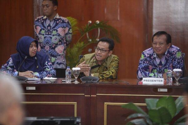 Wali Kota Malang Sutiaji (tengah) saat menyampaikan paparan tentang Brexit, layanan publik untuk warga tunanetra berbasis komunikasi braille di Jakarta, Jumat (12/7/2019). - Istimewa