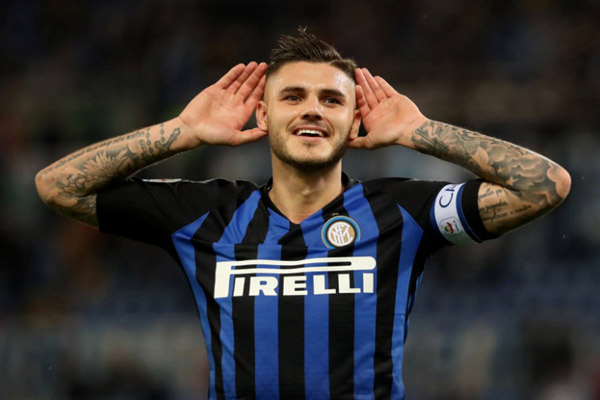 Striker Inter Milan Mauro Icardi - Reuters/Tony Gentile