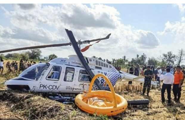Helikopter jatuh di Lombok - Antara