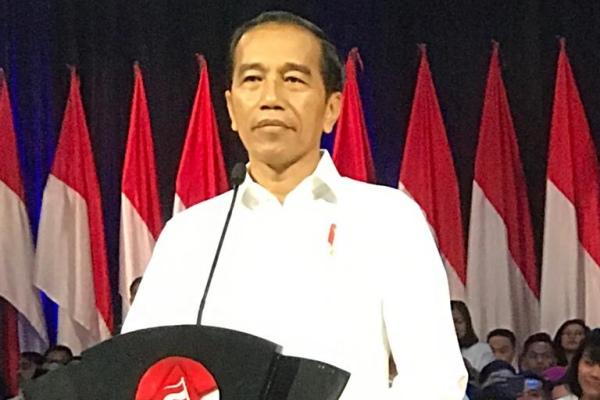 Jokowi saat menyampaikan visi Indonesia di Sentul International Convention Center (SICC), Bogor, Minggu (14/7/2019). - Bisnis/Arif Budisusilo