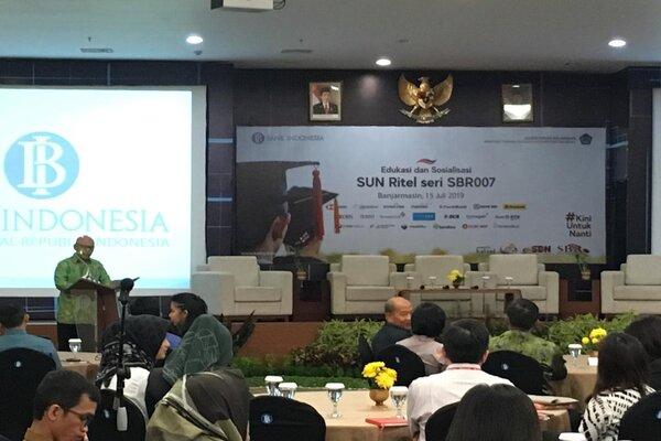 Perwakilan BI Provinsi Kalsel berkolaborasi dengan Kemenkeu RI memperkenalkan SUN Ritel Seri SBR007. - Bisnis / Arief Rahman