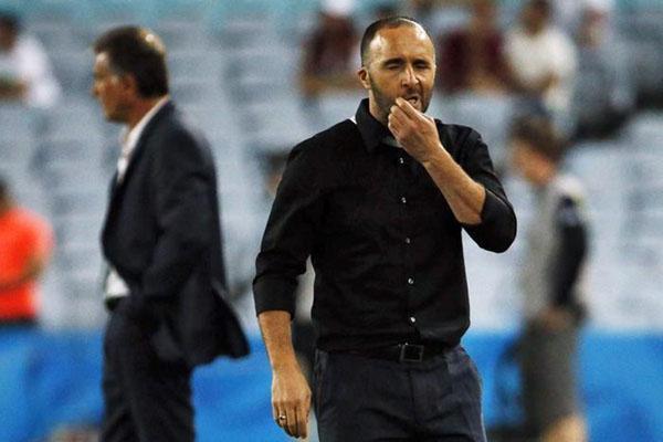 Pelatih Timnas Aljazair Djamel Belmadi - Reuters