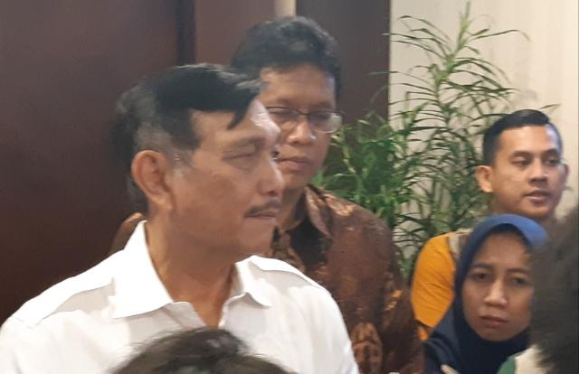 Menko Kemaritiman Luhut Binsar Pandjaitan di Kemenko Kemaritiman, Selasa (16/7/2019). - Bisnis/Rayful Mudassir