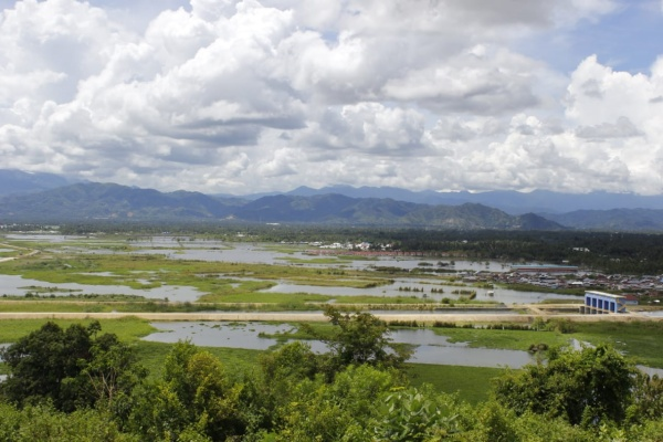 Kondisi Danau Limboto, Gorontalo mengalami penyempitan akibat okupasi lahan. Danau Limboto menjadi satu dari 15 danau yang diprioritaskan untuk dipulihkan. - Rivki Maulana