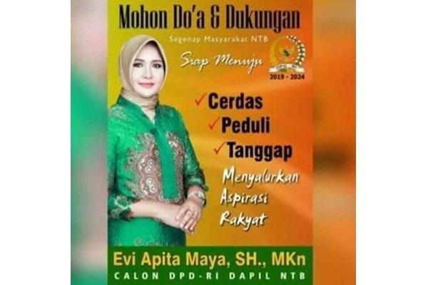 Poster Evi Apita Maya yang dipermasalahkan : Karena terlalu cantik? - Twitter