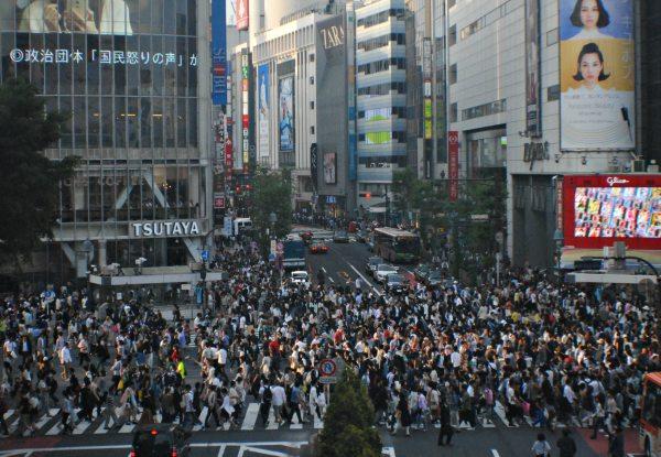 Salah satu kepadatan masyarakat di Kota Tokyo Jepang - Bisnis/Stefanus Arief Setiaji
