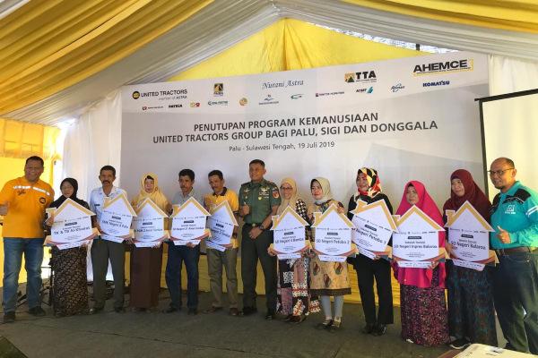 Penutupan Program Kemanusiaan PT United Tractors Tbk. (UNTR) di Palu, Sigi, dan Donggala, Jumat (19/7/2019). - Bisnis/M. Nurhadi Pratomo