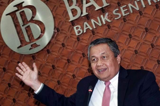 Gubernur Bank Indonesia (BI) Perry Warjiyo memberikan keterangan kepada awak media di Jakarta, Kamis (18/7/2019). - Bisnis/Himawan L Nugraha