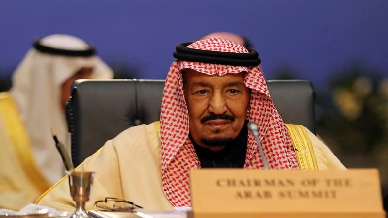 Raja Arab Saudi Raja Salman menghadiri pertemuan puncak antara liga Arab dan negara-negara anggota Uni Eropa, di resor Laut Merah Sharm el-Sheikh, Mesir, Minggu (24/2/2019). - Reuters