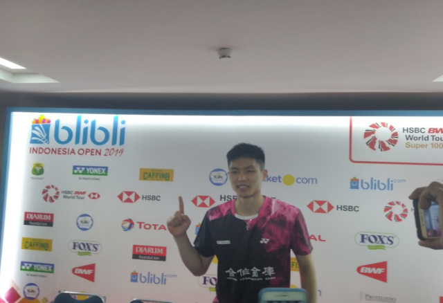Chou Tien Chen Juara Tunggal Putra di Indonesia open 2019. - Surya Rianto