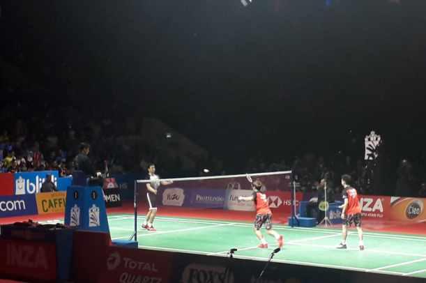 Final Indonesia Open 2019, Kevin Sanjaya-Marcus Gideon vs Hendra Setiawan/Mohamad Ahsan - Bisnis.com/Andhika