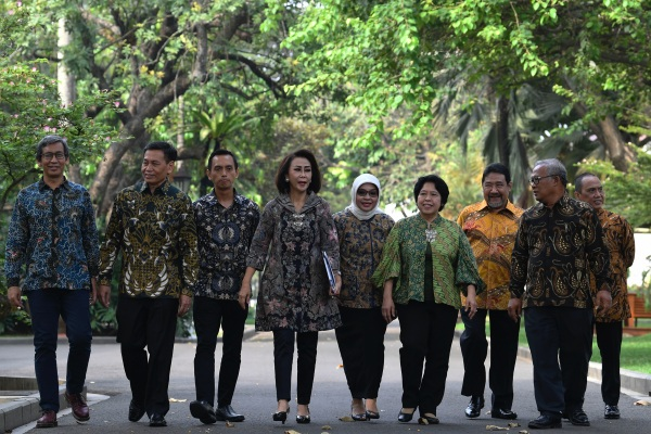 Panitia Seleksi calon pimpinan Komisi Pemberantasan Korupsi (KPK) di Istana Kepresidenan, Jakarta, Senin (17/6/19). - ANTARA FOTO/Puspa Perwitasari