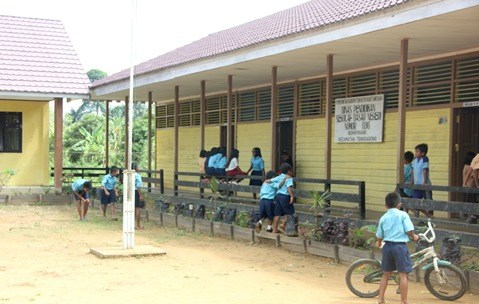 Ilustrasi: Sekolah di Desa Bengkinang, Kukat, Kaltim - Bisnis/M Yamin