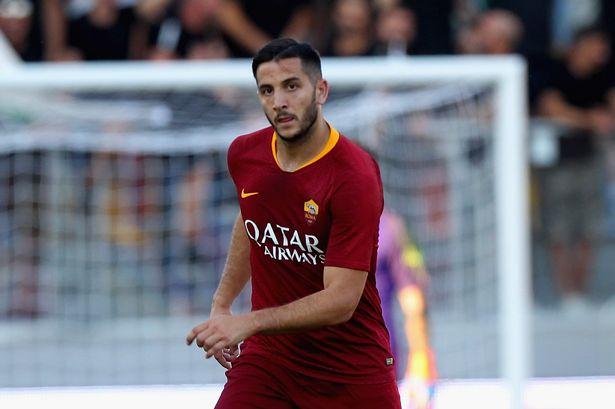 Kostas Manolas sewaktu membela AS Roma - Manchester Evening News
