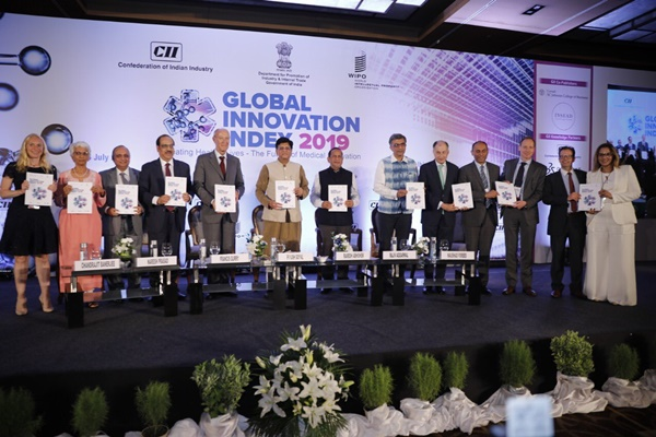 Peluncuran Global Innovation Index 2019 di India, Rabu (24/7/2019). - Twitter @GI_Index