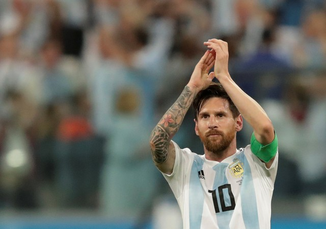 Striker Argentina, Lionel Messi - Reuters