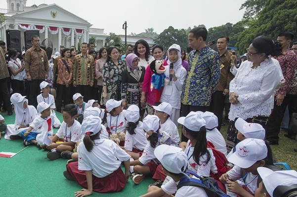 Presiden Joko Widodo dalam acara puncak Hari Anak Nasional - Antara/Widodo S. Jusuf