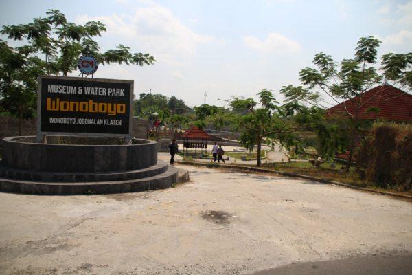 Kondisi museum dan waterpark Wonoboyo yang dibangun Pemdes Wonoboyo, Kecamatan Jogonalan, Klaten, Rabu (24/7/2019). (Solopos - Taufiq Sidik Prakoso)